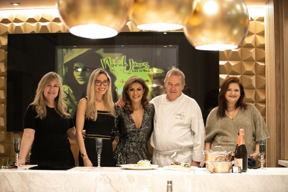 Cláudia Mohn, Renata Magnino (Docol), Eliene Lucindo, Chef Carlos Cardoso e Marcela Menezes
