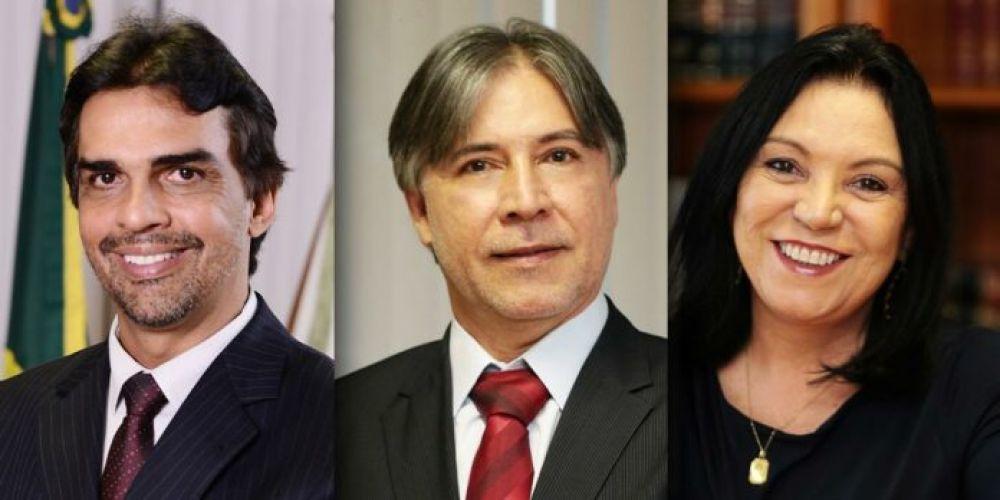 Conselheiro Paulo Tadeu, Conselheiro Inácio Magalhães Filho e Conselheira Anilcéia Machado.