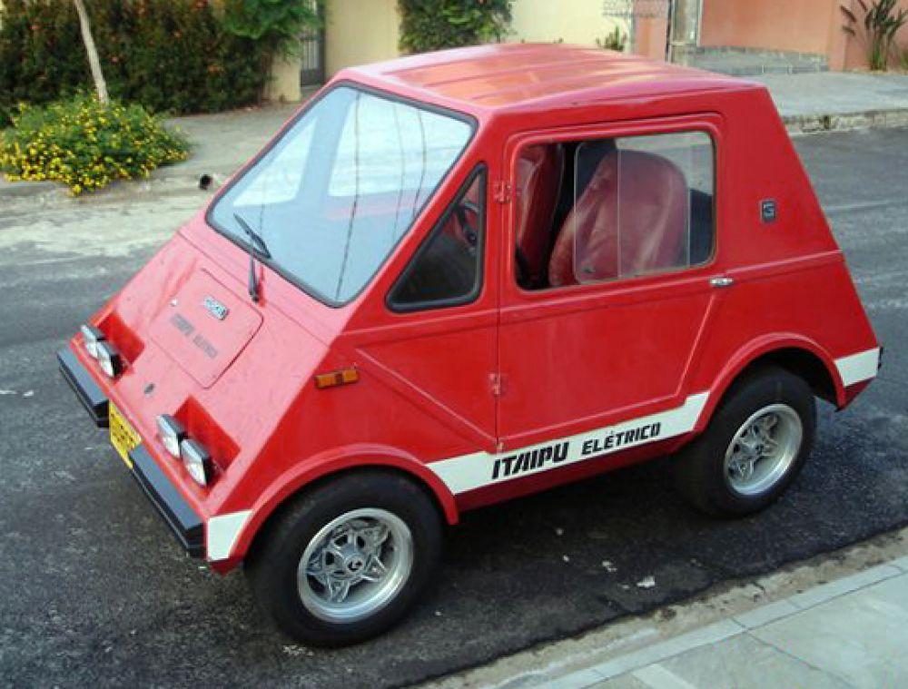 Gurgel Itaipu, o primeiro carro 100% elétrico projetado no Brasil em 1974. Fonte: Creative Commons