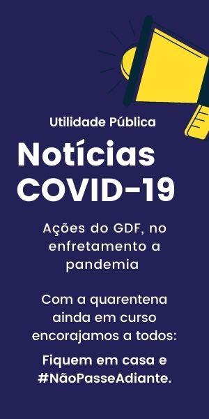 Banner - Utilidade Pública - Covid - 19 - GDF